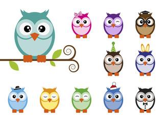 Owls set.