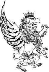 gryphon tattoo isolated09