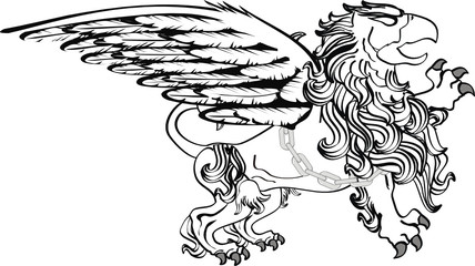 gryphon tattoo isolated07