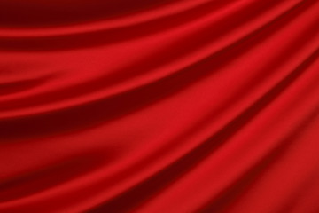 Photo sur Aluminium Rouge traffic Red silk textile background