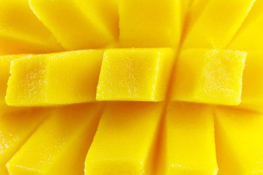 mango chunks macro closeup detail