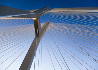 Spoed Foto op Canvas Brug Modern bridge