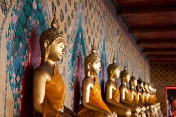 Shallow depth view of serene buddha statue