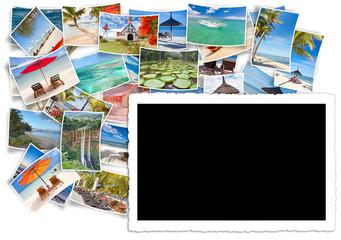 fond noir pour photo de l'île Maurice