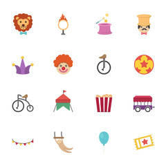 Circus Icons vector eps10