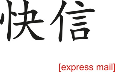 Chinese Sign for express mail