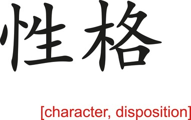 Chinese Sign for character, disposition