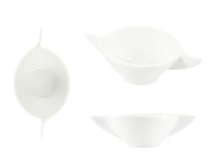 Ceramic sauce boat vessel