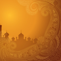 Fototapeta Eid ka chand Mubarak (Wish you a Happy Eid Moon ) background obraz