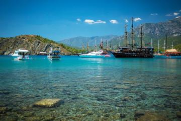 Foto op Aluminium Turkije Mediterranean coast, Turkey Kemer
