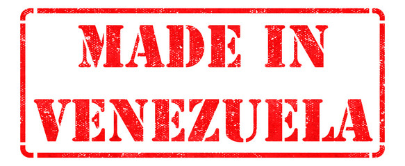 Made in Venezuela on Red Rubber Stamp.