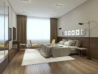 Bedroom interior in contemporary style