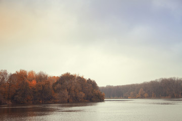 Late autumn at the river