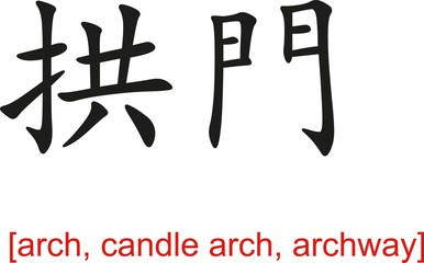 Chinese Sign for arch, candle arch, archway