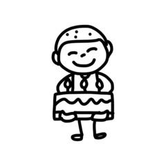 hand drawing cartoon birthday