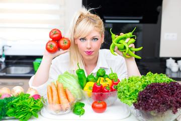 Pretty Woman in the kitchen