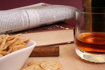 Whisky und Zeitung