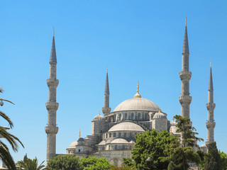 View to the Sultan Ahmed Mosque (Blue Mosque), Istanbul, Turkey