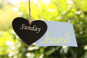 Auszeit am Sonntag