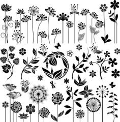 Black floral set