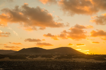 mountain sunset at Lanzarote