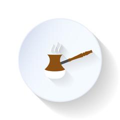 Coffee turk flat icon