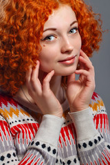 Pretty red-haired girl