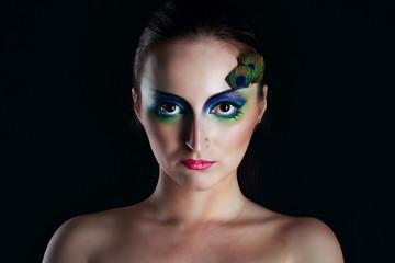 Girl peacock