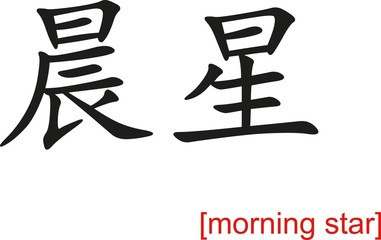 Chinese Sign for morning star