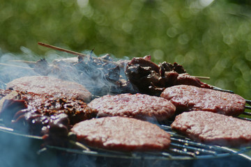 Closeup of grilled food