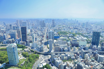 Foto auf AluDibond Tokio 東京タワーからの眺め