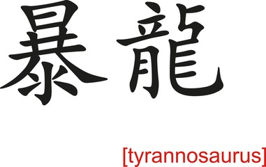 Chinese Sign for tyrannosaurus