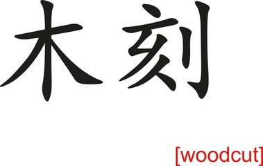 Chinese Sign for woodcut