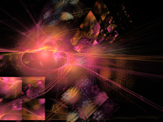 fractal with abstract background