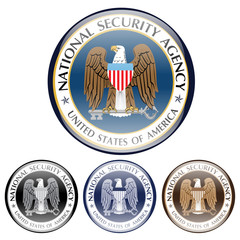 emblem of us american secret service. national security agency