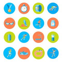 Running icons round