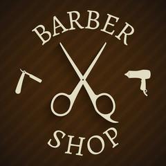 Hairdresser barber shop poster