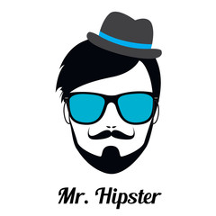 Fashion silhouette hipster style, vector