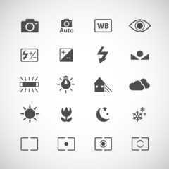 camera icon set, vector eps10