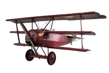 retro plane isolated on white
