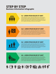 4 Step Business Infographic