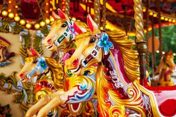 Merry go round horses