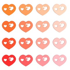 Harten in verschillende kleuren