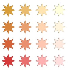 Sterren in verschillende kleuren