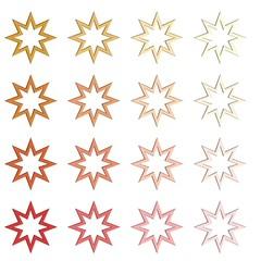 Verschillende kleuren sterren