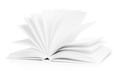 Blank book isolated on white