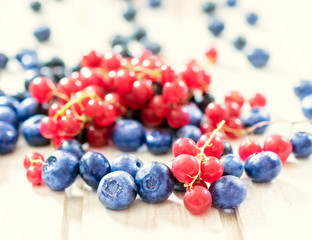 Currant and bluberries
