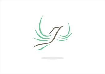 Vector dove bird flaying logo vector