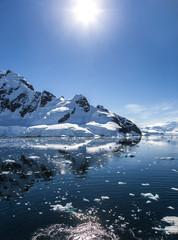Aluminium Prints Antarctic Antarctica Landscape-11