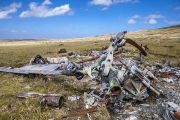 Helicoptere Crashed in Falkland Islands